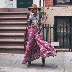 Spell folktown maxi skirt